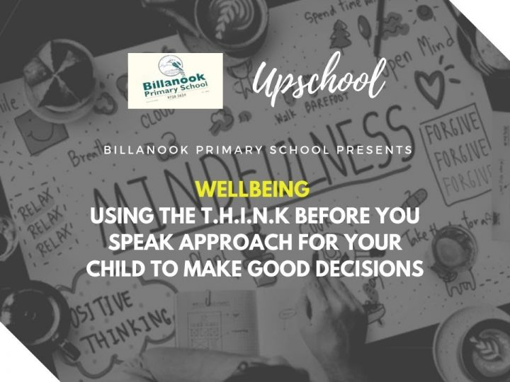Wellbeing: Using the T H I N K Before You Speak Approach for Your Child to Make Good Decisionssion